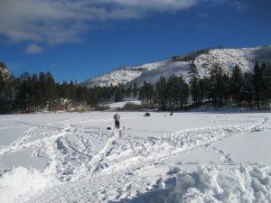 Fenton Lake Ice Fishing January 10, 2016