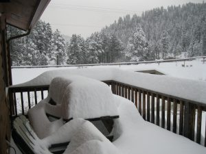 Back Deck Of Cabin February 2015