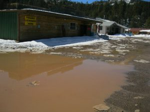 'Lake Amanda' Near Amanda's Jemez Mountain Store - Snow Melt From Latest Storm