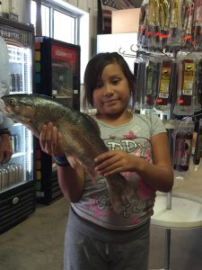 "Nine Year Old Genelle Peralta And Her 22"" Rainbow From The Kid's Pond"