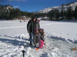 Fenton Lake Ice Fishing - Winter 2016...A Family Affair