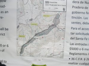 Map Of Closure Area Along The Rio Cebolla